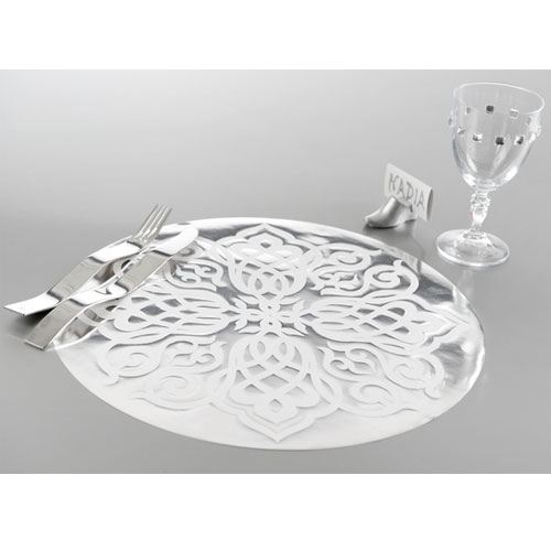 Set de table oriental argent