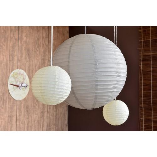 lanterne boule chinoise taupe en papier xl un jour sp cial. Black Bedroom Furniture Sets. Home Design Ideas