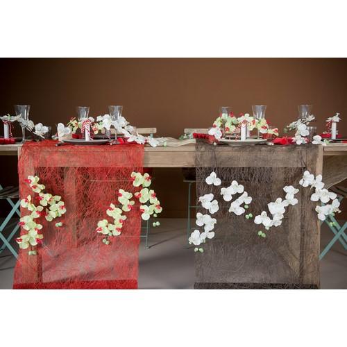 Chemin de table mariage abaca rouge un jour sp cial - Chemin de table rouge mariage ...