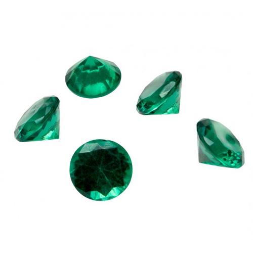 achetez 24 gros diamants vert meraude pas cher d co accessoires mariage. Black Bedroom Furniture Sets. Home Design Ideas
