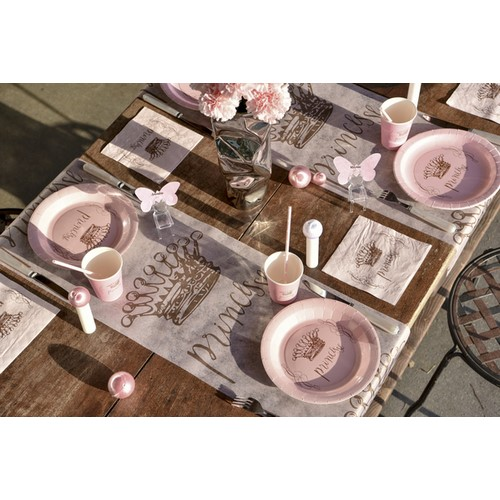 Serviettes de table Princesse rose pastel