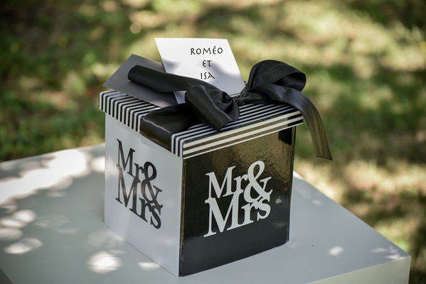 Urne de mariage tirelire Mr & Mrs proposée ... - Photo 2