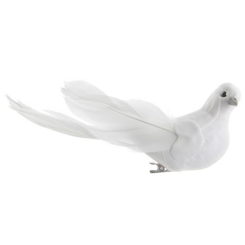 colombe en plumes sur pince pas cher d coration de mariage th me colombe oiseaux. Black Bedroom Furniture Sets. Home Design Ideas