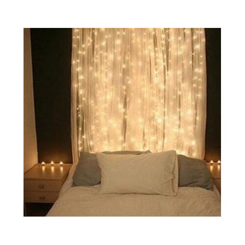 rideau de lumi re 300 led guirlande lumineuse pour d co. Black Bedroom Furniture Sets. Home Design Ideas