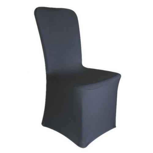 Housse de chaise lycra noire d coration de salle de mariage - Housse de chaise noire ...