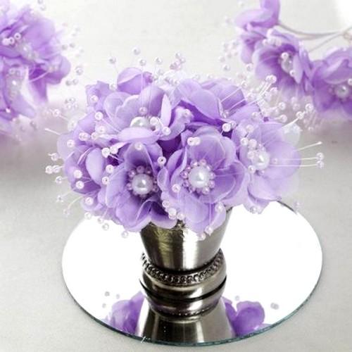 bouquet de fleurs lavande et perles deco de table mariage. Black Bedroom Furniture Sets. Home Design Ideas