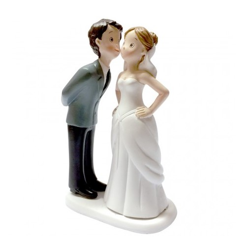 Decoration Mariage  - Figurine mariage style BD le bisou : illustration