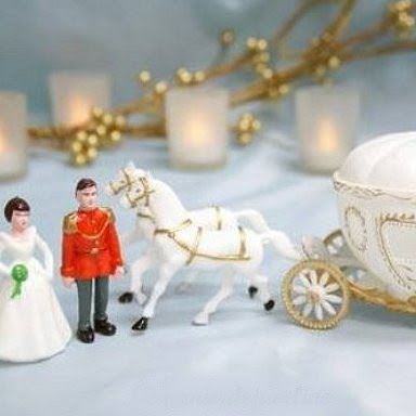 Figurine de Mariage carrosse de Cendrillon sujet gateau ... - Photo 1