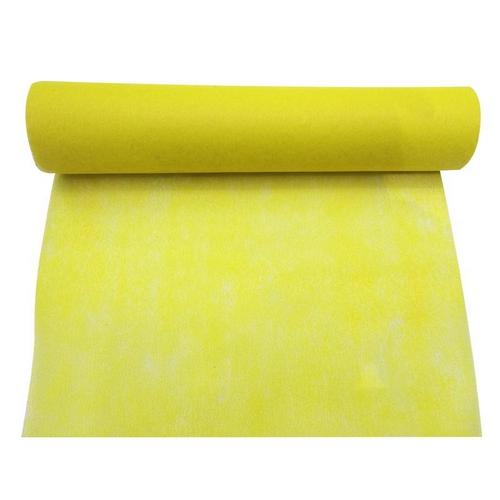 chemin de table jaune intiss en rouleau pour d co de. Black Bedroom Furniture Sets. Home Design Ideas