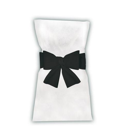 noeuds de chaise noir en intiss d co de salle n ud de chaise mariage en tissu non tiss. Black Bedroom Furniture Sets. Home Design Ideas