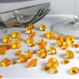 Diamants Décoratif Orange Déco de Table Mariage (lot de 500)  par Un Jour Spécial ... - Photo 1