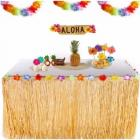 Jupe tour de table tropical couleur paille