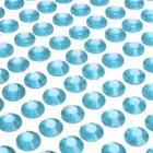 100 strass diamants auto-collant rond 6 mm turquoise