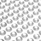 100 strass diamants auto-collant rond 6 mm transparent