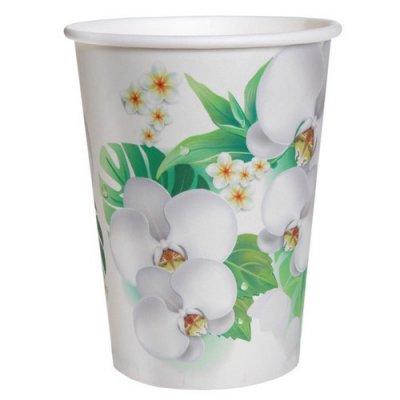 gobelets orchid e en carton vaisselle jetable pour d co de mariage th me exotique tropiques. Black Bedroom Furniture Sets. Home Design Ideas