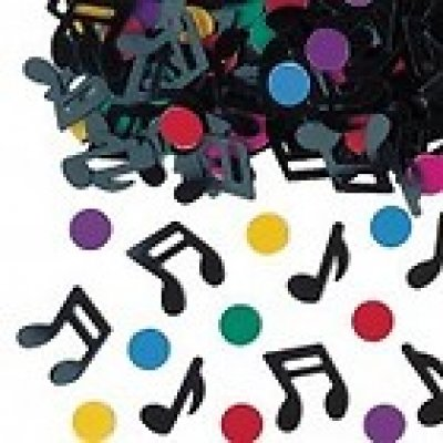 Decoration Mariage  - Confettis de Table Notes de musique Multicolores : illustration