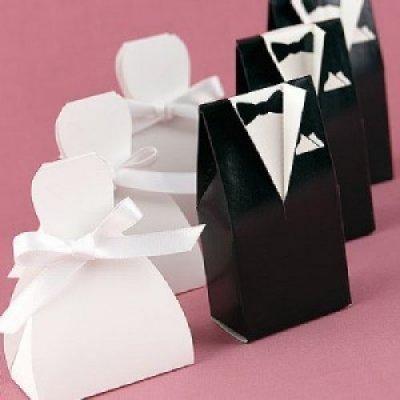bote drages couple de marislot de 10 accessoires de mariage - Contenant Dragee Mariage