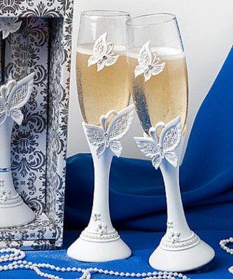 Flute a champagne mariage papillon deco mariage pas cher un jour sp cial - Coupe de champagne pas cher ...