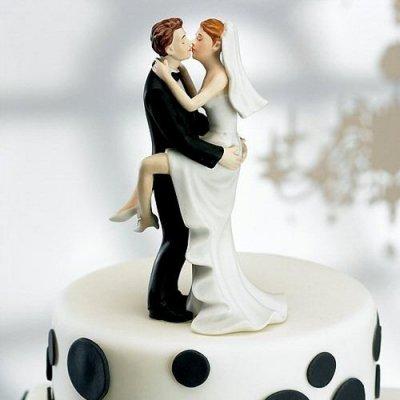 figurine de mariage baiser fougueux accessoires de mariage - Figurine Mariage Humoristique