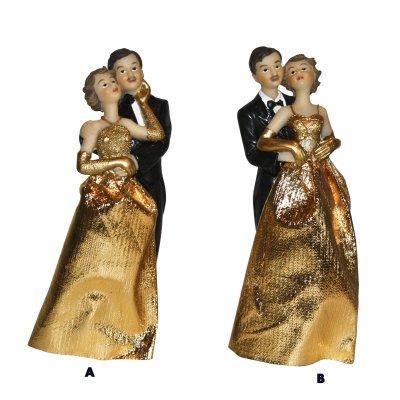 Couple de mari s noces d 39 or figurine 50 ans de mariage un jour sp cial - Cadeau 50 ans de mariage noces d or ...