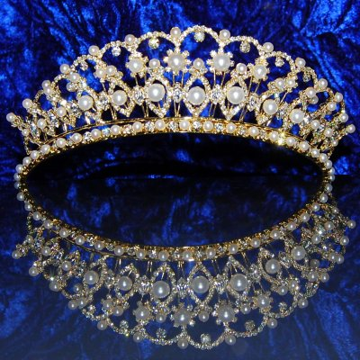 diadme mariage cristal et perles boreana accessoires de mariage - Diademe Mariage Oriental