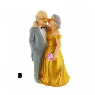 Figurine 50 ans de mariage mari s noce d 39 or un jour sp cial - Decoration pour 50 ans de mariage ...