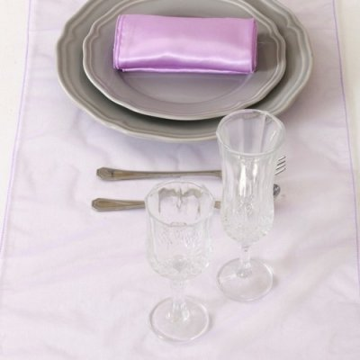 Decoration Mariage  - Chemin de Table Organza Lavande (Lot de 5) : illustration