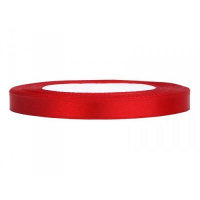 Noeuds, rubans Mariage  - Ruban Satin Double Face 6 mm Rouge  : illustration