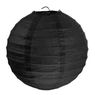 boule chinoise mariage en papier noir x 2 d coration de salle pas cher un jour sp cial. Black Bedroom Furniture Sets. Home Design Ideas