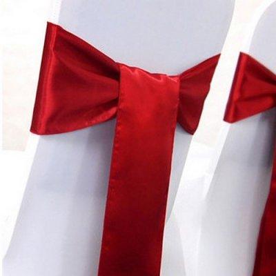 Noeud de chaise mariage satin rouge un jour sp cial - Noeud de chaise en satin ...