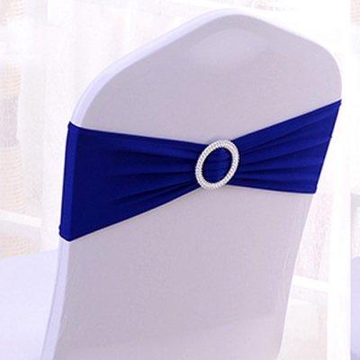 Noeud De Chaise Mariage En Lycra Bleu Roi