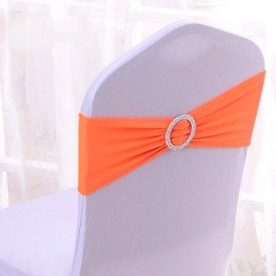 Noeud De Chaise Mariage En Lycra Orange