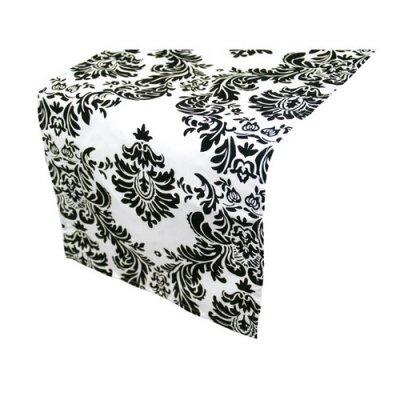 Chemin de table baroque noir et blanc un jour sp cial for Chemin de table gris et blanc