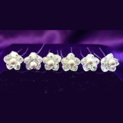 pic chignon epingle cheveux mariage perle cristal clair accessoires de mariage - Epingle Cheveux Mariage