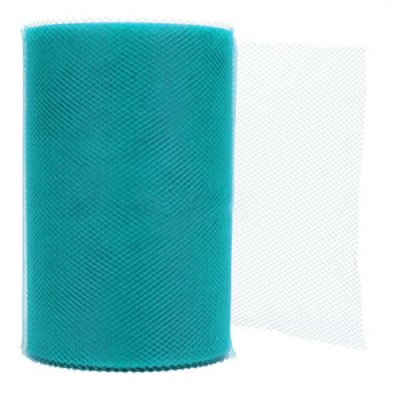 Déco mariage tulle turquoise 20m
