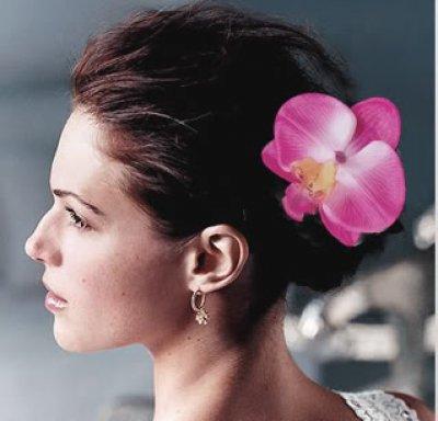 Pince Pic,chignon Epingle Cheveux Mariage Fleurs Orchidée