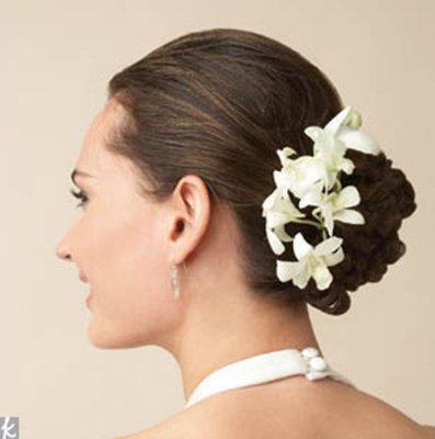 pince pic chignon epingle cheveux mariage orchide blanche accessoires de mariage - Accessoir Cheveux Mariage