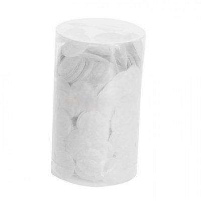 tube de confettis en papier de soie blanc. Black Bedroom Furniture Sets. Home Design Ideas