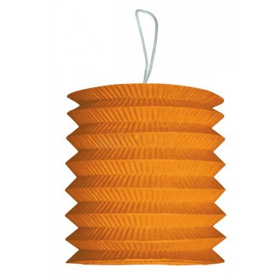 Lampion cylindrique 15 cm papier ignifugé orange