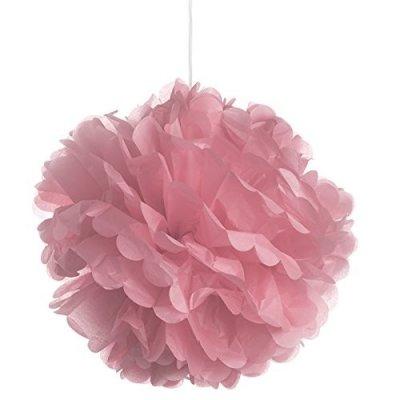 3 fleurs en papier de soie rose blush 45 cm. Black Bedroom Furniture Sets. Home Design Ideas