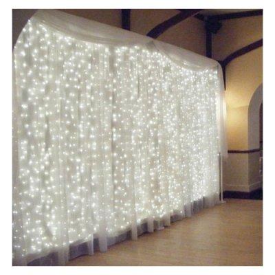 guirlande lumineuse 600 led mariage pas cher rideau de lumi re. Black Bedroom Furniture Sets. Home Design Ideas