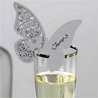 marque place papillon argent pas cher porte nom mariage. Black Bedroom Furniture Sets. Home Design Ideas