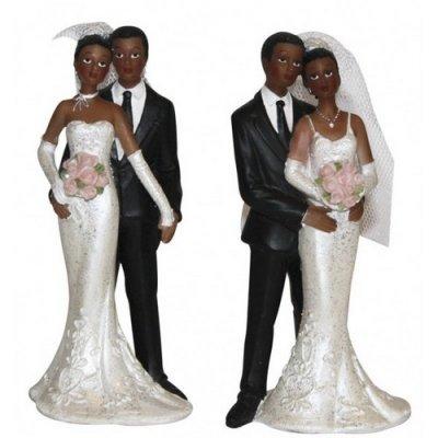 sujet figurine mariage peau noire couple de mari s un jour sp cial. Black Bedroom Furniture Sets. Home Design Ideas
