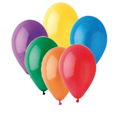 Assortiment de ballons gonflables multicolore - Lot de 100 ballons