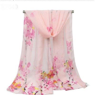 Foulard Etole écharpe floral mariage imprimé rose dégradé -   Un ... b162c7fac37
