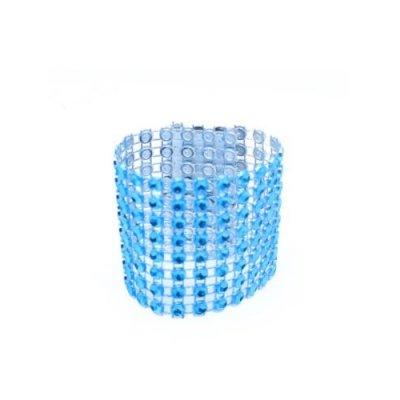 rond de serviette avec strass bleu turquoise d co de table et de salle de mariage. Black Bedroom Furniture Sets. Home Design Ideas