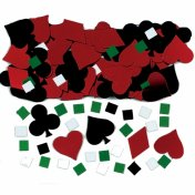 Confettis de Table Mariage Poker ou Casino