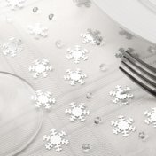 Confettis de Table Flocons de Neige