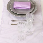 Chemin de Table Organza Lavande (Lot de 5)