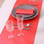 Chemin de Table Satin Corail (Lot de 5)
